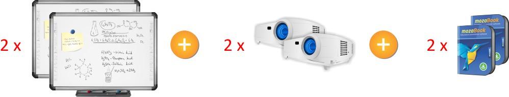 2xTruBoard R5-800E z projektorem UST i mozaBook