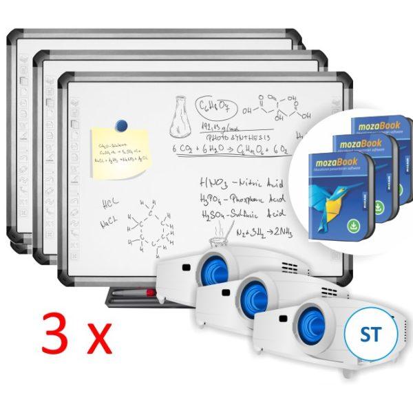 3xTruBoard R5-800E z projektorem ST i mozaBook