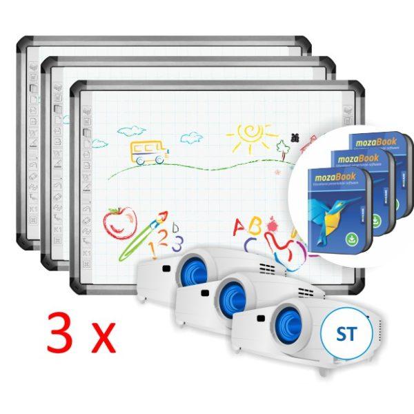 TruBoard R5-800L z projektorem ST i mozaBook