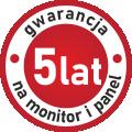 5 lat gwarancji na monitor i panel