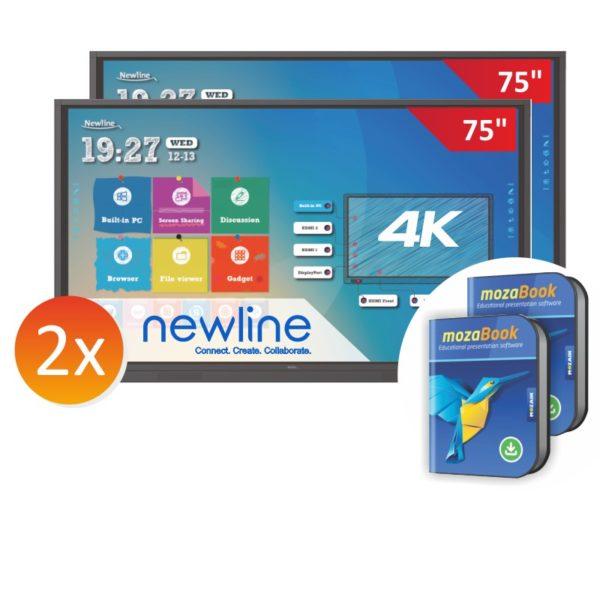 Zestaw: 2x monitor TT-7518RS + 2x mozaBook