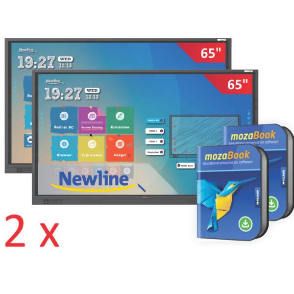 zestaw 2x monitor interaktywny TruTouch 6518RS z MozaBook