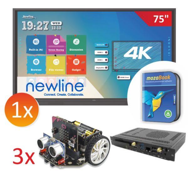 zestaw monitor Newline 7518RS z 3x robot Maqueen