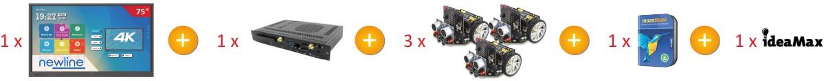zestaw monitor Newline 7518RS z 3x robot Maqueen_sklad