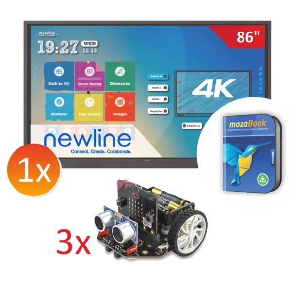 zestaw monitor Newline 8618RS z 3x robot Maqueen
