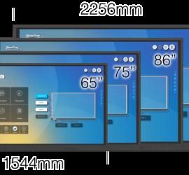 Różne rozmiary monitorów serii RS.