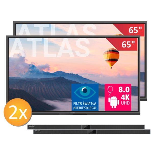 2 x monitor TT-6520ER z wbudowanym zestawem mikrofonów i uchwytem + 2 x soundbar o mocy 40W