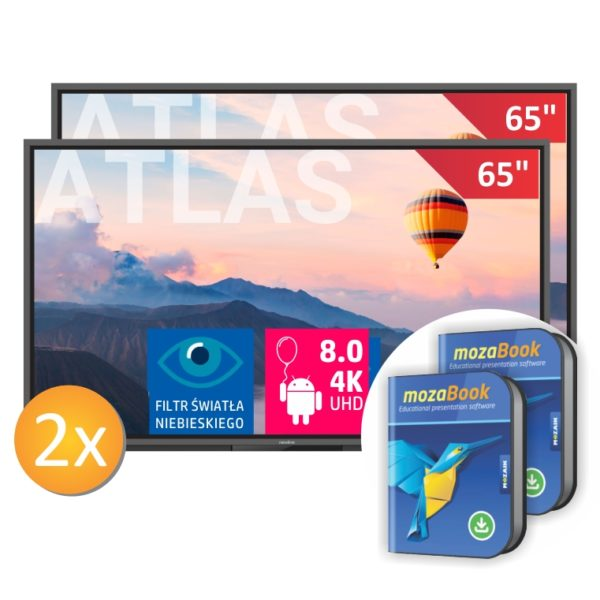 2 x monitor TT-6520ER z wbudowanym zestawem mikrofonów i uchwytem